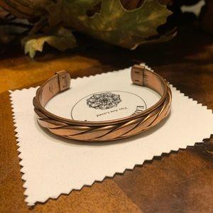 Copper Therapeutic Braided Bangle Bracelet